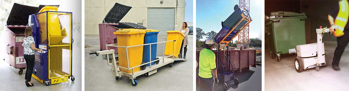 Waste management solutions with Electrodrive and Liftmaster bin lifters and bin movers