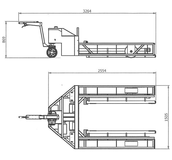 Rail wheelset mover dimensions